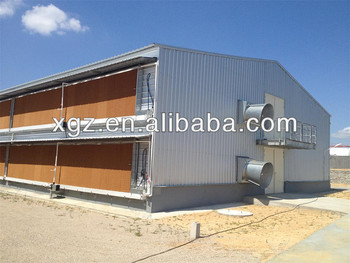 Two story steel structure poultry chicken building house for 2 story steel building