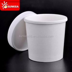 12oz 16oz custom logo printed white food container paper soup
