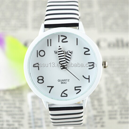 zebra-stripe silicone women watches