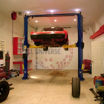 4500kg Hydraulic 2 Post Clear Floor Car Lift Bendpak For Home