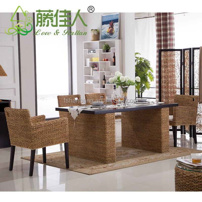 china hotsale rattan geflecht esstisch und stuhl gesetzt-rattan, Esstisch ideennn