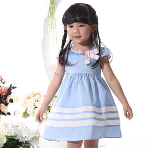 Hot sale 100% cotton kids clothes polka dots dress fairy kid clothing for girl