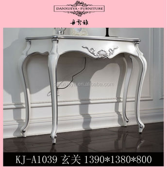 White Entrance Table