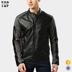 Men PU black and grey solid tailored jacket from china supplier