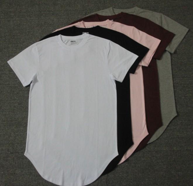 4a866040 Summer high quality custom white blank plain round bottom printing 100%  cotton mens longline t