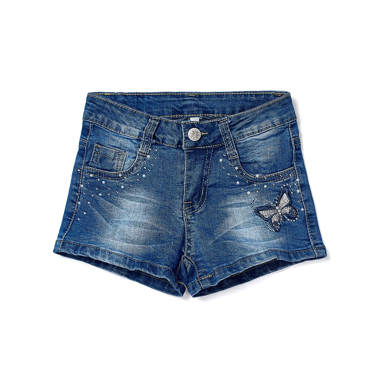 051e3752de Get Quotations · ISPED Girls Jean Shorts for Teen Girls Ripped Girls Shorts  Summer Floral Embroided Denim Jean Shorts
