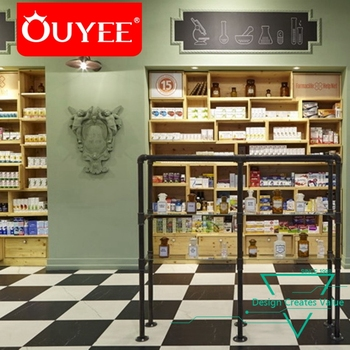 Cheap Store Shelves Showcase Wall Pharmacy Display Cabinet Shop Interior  Medical Store Counter Design
