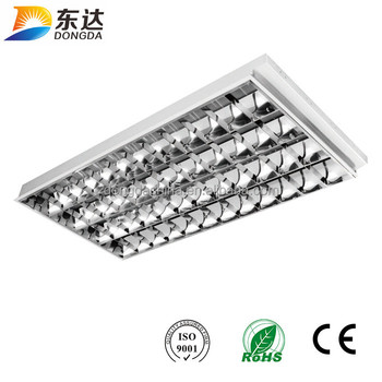 Double T8 Fluorescent Lamp Square Led Recessed Down Lighting Fixture ...