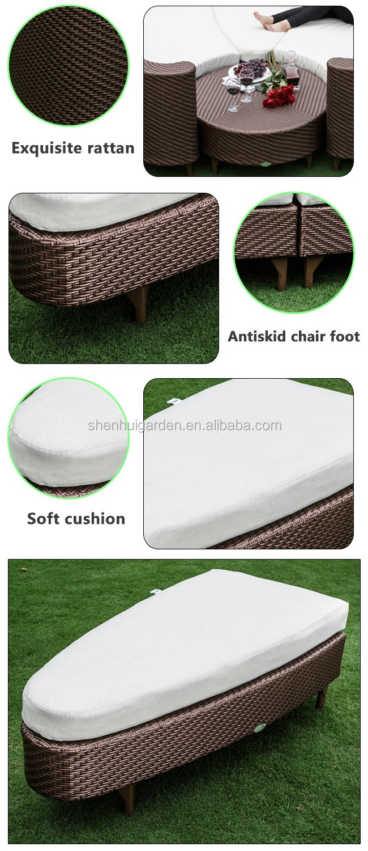 Neues Design Bauhaus Verkauf Patio Sofa Kunststoff Rattan Woven