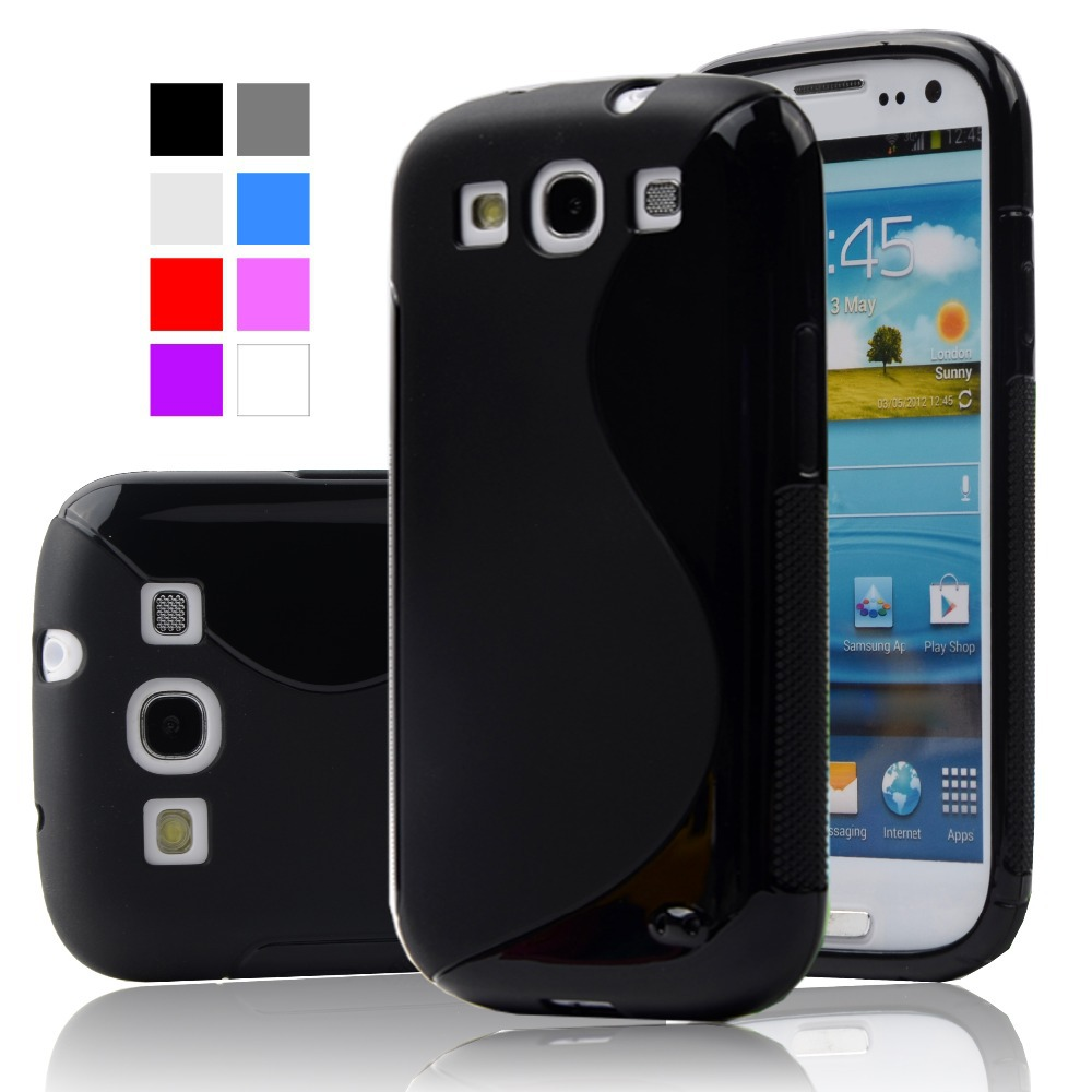 check out ecf16 5d343 S LINE Anti Skiding Gel TPU Slim Soft Case Back Cover for Samsung Galaxy S3  SIII I9300 S 3 Mobile Phone Rubber silicone Bags