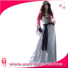 2016 China Supplier Medieval wedding Costume Adult Sexy Halloween Costume Fancy Dress Costume