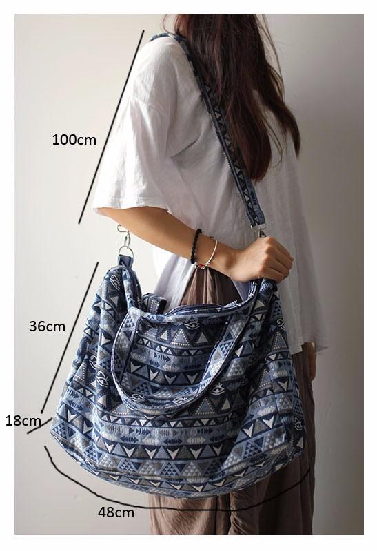Canvas Leather Trim Travel Tote Duffel shoulder handbag Weekend