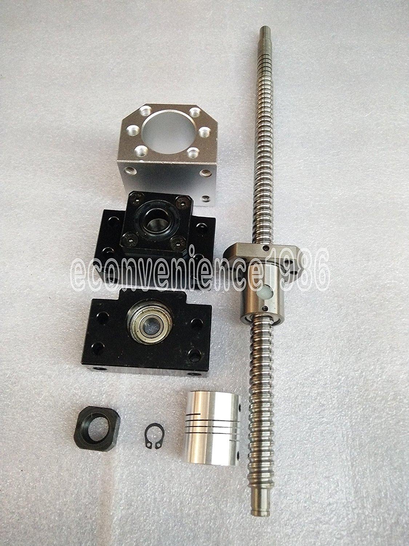 1x Antibacklash RM1605--400 mm Ballscrew /& nut+BF12//BK12+6.35*10 mm Couplering