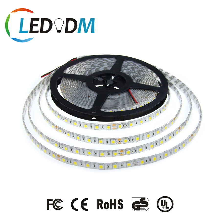 New Design DC12/24V 60Leds/m 360 Degree Transparent SMD5050 LED Strip Light IP65-Waterproof PW/NW/WW 2700-6500K