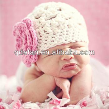 Cute Baby Hat Crochet Pattern Newborn Baby Girls Flower Beanies Hats ... d7748f30d51