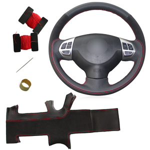 DIY Steering Wheel Cover for Mitsubishi Lancer EX Outlander ASX Colt Pajero Sport