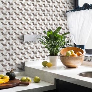 Blanc Gris Et Noir Couleur Mixte Mosaique De Marbre Carrelage