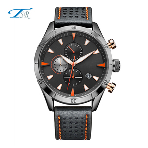 Retro vintage mens watch with classic design japan movement quartz watch