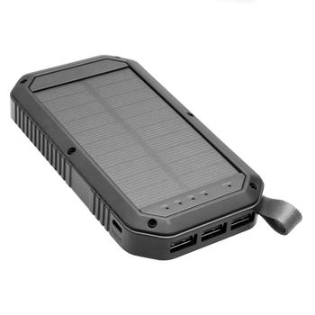 Ce Rohs Fcc Certificated Portable 10000mah Solar Charger Powerbank  Waterproof Solar Powered Power Bank For Smartphones - Buy 10000mah Solar