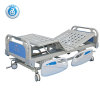 ZG-C1 Hospital nursing manual crank ward bed with ABS mattress board