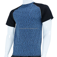 New custom compression outdoor men t shirt with reflection trims