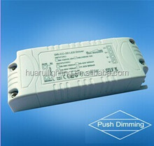 40w 900ma 44V DC push dimming led power driver for led lighting with self return switching memory luminance