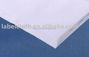 various polyester satin fabric material Iron-on hot melt glue label