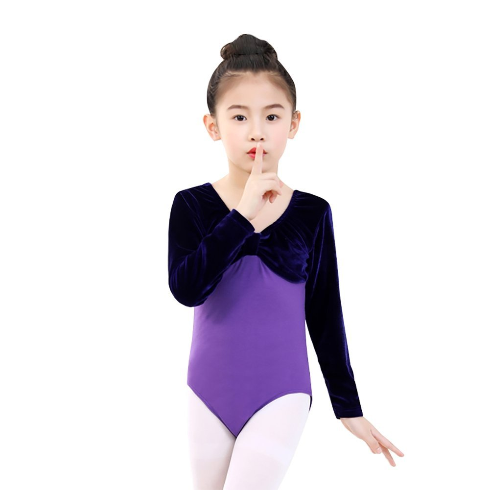 9c8e4e4a3d44 Get Quotations · Gymnastics Leotards for Kids Girls Children,Wingbind  One-piece Long Sleeve Dance Costumes Ethnic