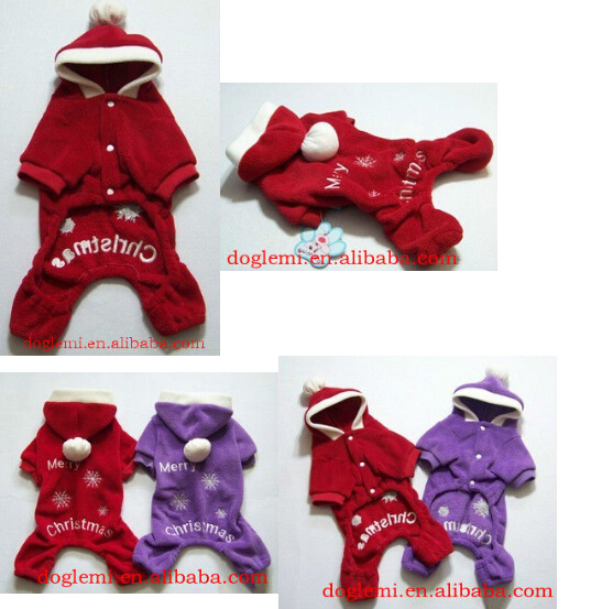Trade Assurance Christmas dog Hooded Clothes red dog coat clothes cheap winter coats for dogs