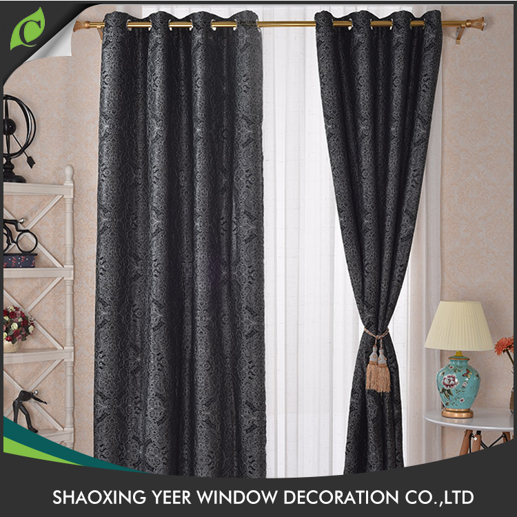 Professional manufacturer jacquard fabric designs traditional curtain