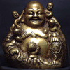 Natural white laughing statue buddha wall sculpture