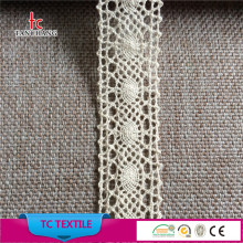 Guangzhou lace factory wholesale 30mm raw lace trim cotton embroidery bridal lace trim MXHB330