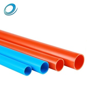 Orange Color Thin Wall 15 mm Small Diameter PVC Plastic Electrical Pipe