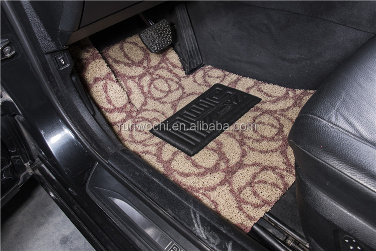 pvc car mat coil mat 12-18mm thickness painting design series- beige