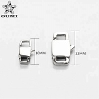 OUMI Stainless Steel Lobster Clasps For Making Bracelet, Silver Tone Stainless Steel Lobster Clasps Jewelry Findings