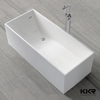 Rectangle free standing bathtub artificial stone bathtubs for Best acrylic bathtub to buy