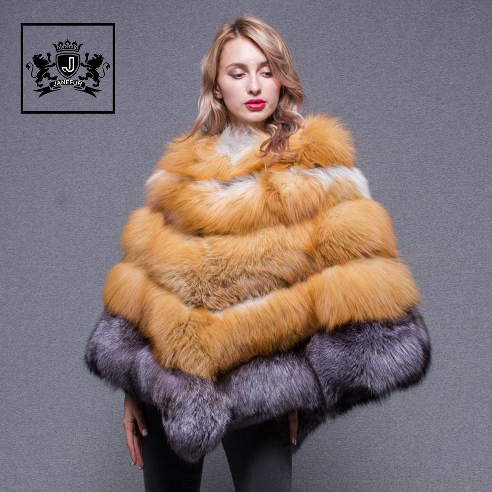2019 hot sale ladies winter poncho women fashion warm real fox fur poncho 2019 hot sale ladies winter poncho women fashion warm real fox fur poncho