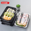 Large plastic fast food tray to go bento PP box