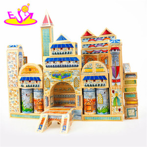 new design wooden building blocks toys W13A092
