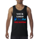Free shipping 20 pcs minimum 1-2 color free screen printing custom screen printing your logo or design gym tank top , singlets