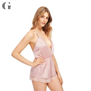 e46dc5757b3 Satin Romper Pajamas
