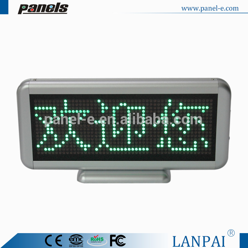 Multi colors available P4 mm digital number led display board