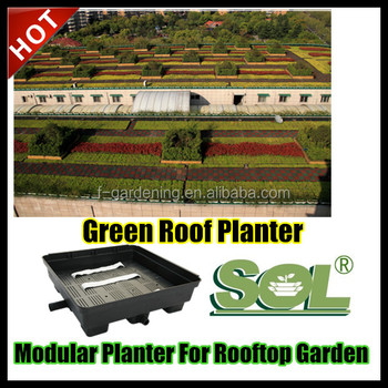 Pot Trays Gardening Green rooftop garden green roof planters sl x5015 square plastic green rooftop garden green roof planters sl x5015 square plastic flower pot trays workwithnaturefo
