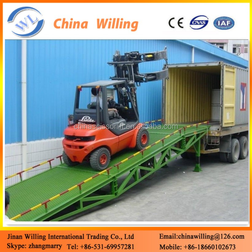 6 t CE Mobile Hydraulic Ramp Lift/Loading Mechanical Dock Leveler