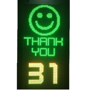 2017 New OnSite Smiley Face Speed Display, LED radar screen display light