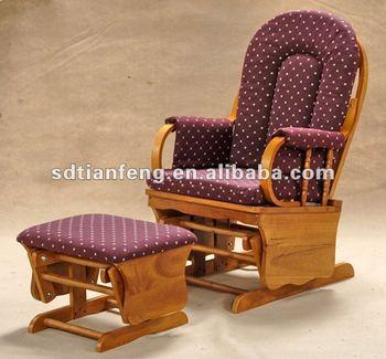 Cheap Antique Wooden Glider Rocker And Ottoman - Buy Furniture ...