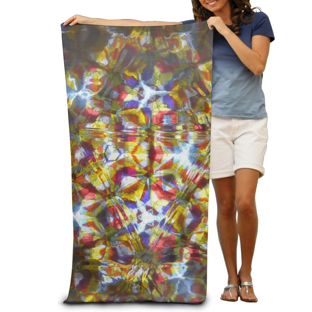 """Bath Towel Kaleidoscope Trippy Acid Psychedelic Patterned Soft Beach Towel 31""""x 51"""" Towel With Unique Design"""