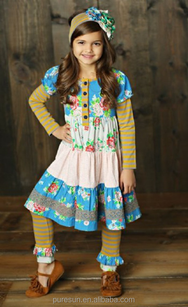 vintage children clothing set fall winter kids suit toddler girl boutique outfit