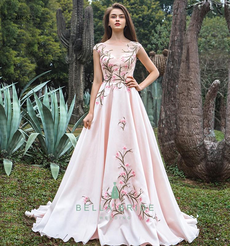 Blush Pink Wedding Dress Women