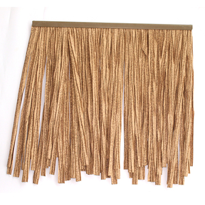 Best Brand windproof artificial thatch roof material thatched beach umbrella